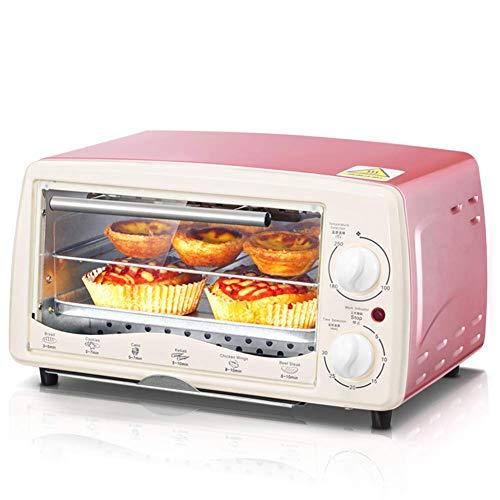 L.BAN Mini Haushaltsöfen 12L Kapazität Multifunktionale Backmaschine Elektrischer Backofen Timer 60Min Pizza Bread Toaster