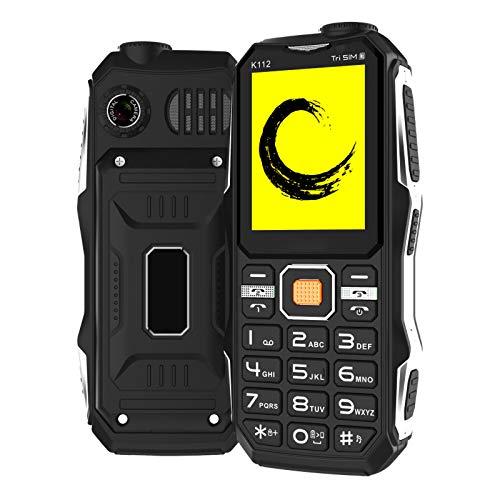 WEUN Teléfono Celular botón Personas Mayores, teléfono Resistente Teléfono Celular Desbloqueado, Impermeable a Prueba Golpes a Prueba Polvo, botón Grande Pantalla Grande Caracteres Grandes, Linterna
