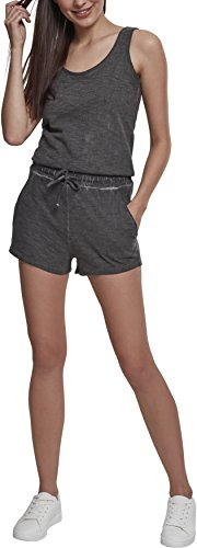 Urban Classics Damen Ladies Cold Dye Short Jumpsuit, Grau (Grey 00111), Small (Herstellergröße: S)