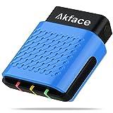 akface Escáner OBD2 Bluetooth 4.0, Inalámbrico Lector de Código OBD II Coche Diagnóstico Escáner para iOS, Android y Windows, Herramienta de Escaneo de Diagnóstico Comprobación de luz del motor
