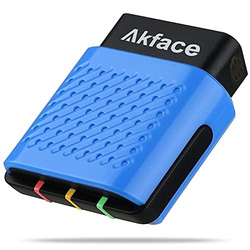 akface OBD2 Diagnosegerät Bluetooth 4.0 für Fahrzeuge über Android, iOS und Windows, Kabellos Diagnosegerät Auto OBD2 Bluetooth Adapter, Fehler-Code Scanner für Alle OBDII Protokoll Deutsch