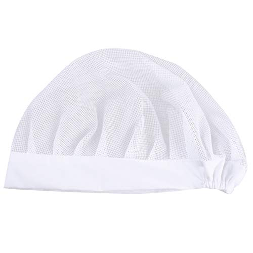 KESYOO Elastische Haarnetz Haube Schutz Kappe Staubdicht Küche Mütze Kochen Arzt Kappe Arbeitsmütze Kochmütze Arbeitsbereichen (Weiß)