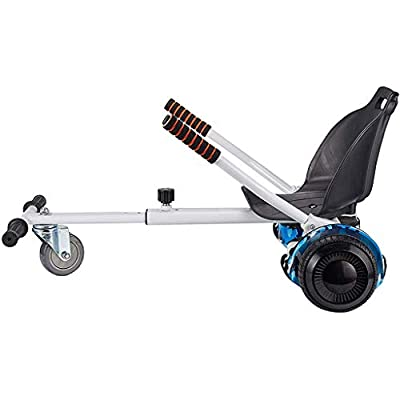 uublik Adjustable Hoverboard Seat Attachment Electric Kart Conversion Kit Accessories Fits Self Balancing Scooter Frame