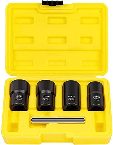 Juego de llaves de tuerca, herramienta extractora de tuercas – 5 piezas de tornillos métricos y tuercas extractoras