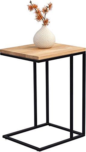 HomeTrends4You Finn Beistelltisch, Holz, Wildeiche Massiv, 38 x 43 x 62 cm