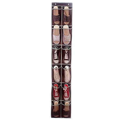 Soul hill Hängende Lagerung Speicher Organisatoren for Garderobe Schuhspeicherlösungen Kleiderschrank weiß Organisator Schuhablage hängen Handtasche Speicher hängende Aufbewahrungstasche zcaqtajro