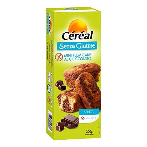 Céréal Mini Plum Cake al Cioccolato - Senza Glutine - Senza lattosio - 200 g