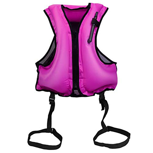 YIREAUD Inflatable Snorkel Jacket Adult,Snorkel Vest Swimming Float Vest for Swimming Snorkeling Paddling Boating Water Sports Beginner Adults-Only 98-220 Lbs