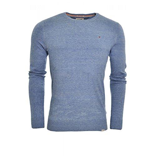 Hilfiger Denim - Ethan - Pull - Uni - Col ras du cou - Manches longues - Homme - Bleu (Bright Cobalt) - FR : XX-Large (Taille fabricant : XXL)