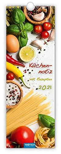 """Streifenkalender """"Küchennotiz"""" 2021: 12 x 35 cm, mit Rezepten"""