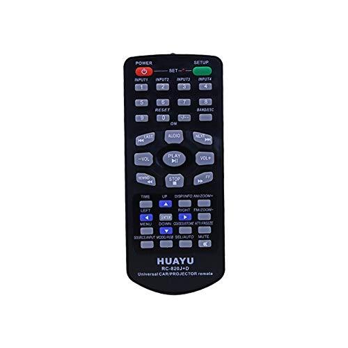 Mando a Distancia Universal para Coche, CD, DVD y proyector RC-820J+ para Pioneer JVC Sony, Panasonic, Toyota ALP Clarion, etc.