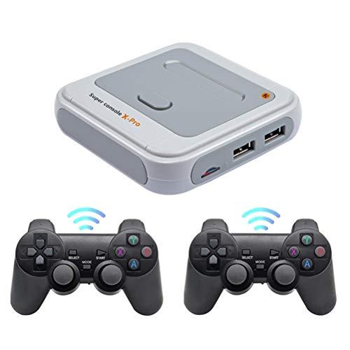BSOA 4K HD Superkonsole X Pro Wireless Retro-Spielekonsole S905X WiFi Open Linux-System Integrierte Unterstützung für über 50000 Spiele TV-Videospiel-Player PS1 / N64 / DC