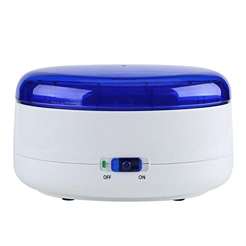 Reinigungsgerät mit Reinigungskorb, Digital Cleaner Reiniger Vibrationsreiniger Schmuckreiniger mit USB Batterie betrieben für Brillen Schmuck Uhren, 18 * 13 * 11 cm