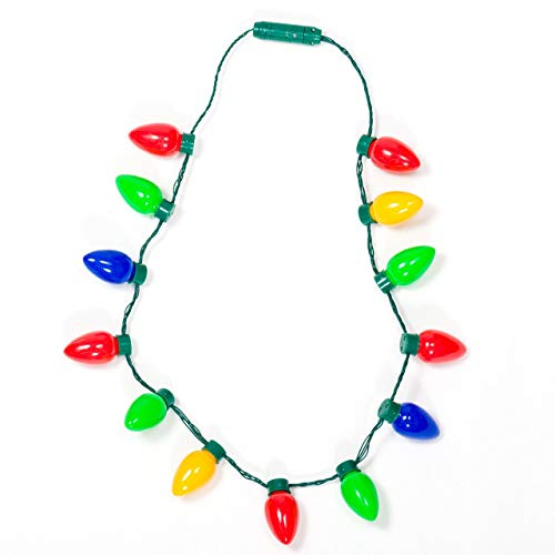 Gloworks Flashing Christmas Bulb Necklace
