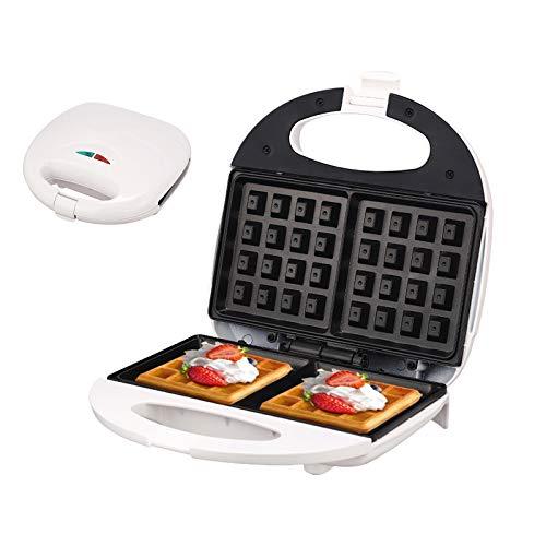 Plancha para Waffles, UMYMAYDO1 Máquina Eléctrica Gofres Puede 2 gofres para paninis, desayunos rápidos, cocina doméstica, Tostadas, 750W EU