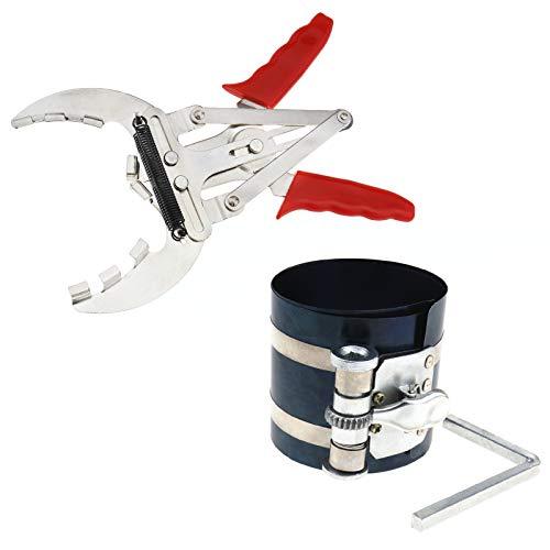 Kolbenring-Zange Kolbenringzange 50-100mm + Kolbenring Spannbänder Kolbenringspanner Set