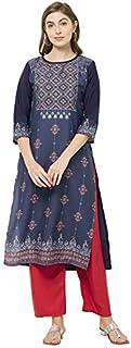 GoSriKi Women's Crepe Straight Salwar Suit Set