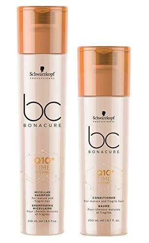 SCHWARZKOPF BC BONACURE Q10+ Time Restore Duo Shampoo 250ml + Creme Conditioner 200ml