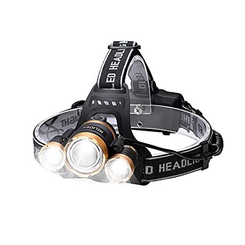 Helius LEDヘッドライト usb充電式 明るい 12000ルーメン センサー 電気出力 電量ディスプレイ可能 超高輝度 3 x XM-L T6 LED ライト ヘッドランプ 4モード ヘルメットライト 防水 防災 小型軽量 ズーム式 登山 夜釣り用 キャンプ 作業用 地震 停電/非常時用 ライト へっとライト (PSE認証 2*18650リチウムイオン蓄電池 USBケーブル 付属)