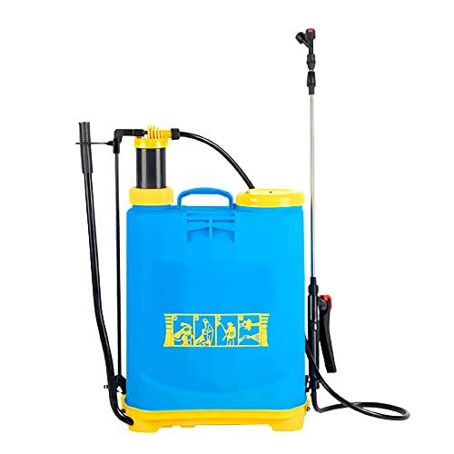 sunyu 16 L Pulverizador a Presión para Plantas, Mochila Pulverizador, con Accesorios Lanza de Pulverización Limpieza Regar Huerto y Jardín