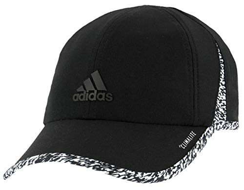 adidas Women's Superlite Relaxed Adjustable Performance Cap, Black/White/3d Pixel, ONE SIZE