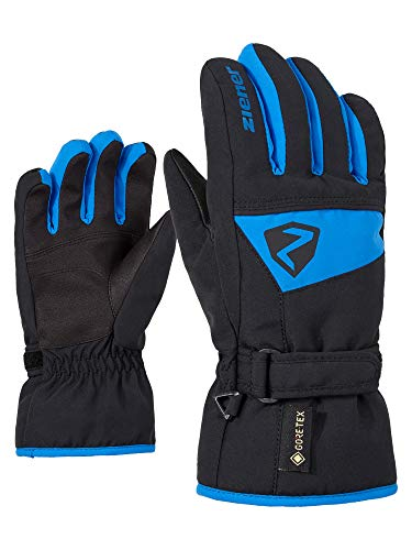 Ziener Lago GTX - Guantes de esquí para niño, Impermeables, Transpirables, otoño/Invierno, Infantil, Color Persian Blue, tamaño 7,5