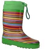 Indigo Rainboots Crazy Strips Gummistiefel im lustigen Ringel-LookGr.24-35 grüntöne EUR 30