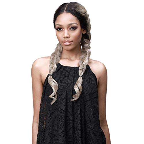 Bobbi Boss Human Hair Blend Extreme Part Dual Styling Lace Front Wig MBLF230 SANA (613A)