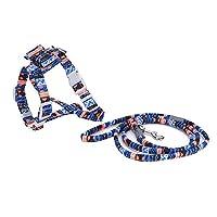猫の牽引ロープ反射パターンペットの散歩チェストバック牽引ロープハーネス中小犬猫(type1)
