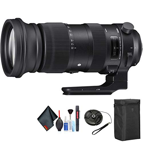 Sigma 60-600mm f/4.5-6.3 DG OS HSM Sports Lens for Nikon F for Nikon F Mount + Accessories (International Model)
