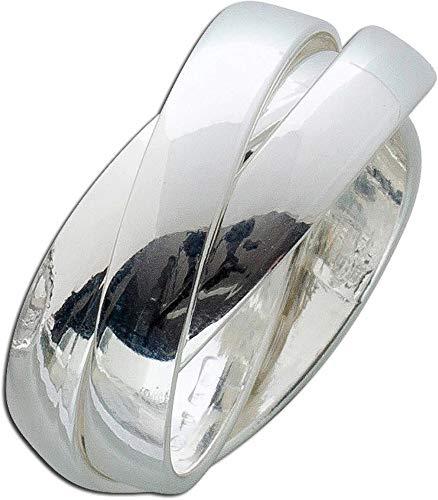 CH.ABRAMOWICZ Ring Silber Sterling 925 Trinity 3-teilig ineinander verschlungen beweglich (21)