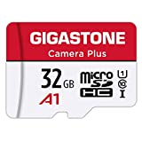Gigastone Carte Mémoire 32 Go Caméra Plus Série, Vitesse de Lecture allant jusqu'à 90 Mo/s. idéal pour Full HD Vidéo Switch Gopro Caméra Android, U1 Carte Micro SDHC avec Mini étui et Adaptateur SD.