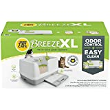Purina Tidy Cats Non Clumping Litter System, Breeze XL All-in-One Odor Control & Easy Clean Multi Cat Box, 18 lb.