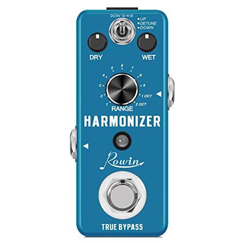 Rowin Harmonizer Pedal Pitch Shift Pedales Harmony Efecto de guitarra Detune Efectos con rango de 13 tonos para pedal de guitarra