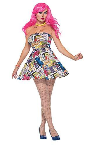 Pop Art vestido Talla UK 10–12 Outfit incluye vestido El accesorio perfecto Pop Art Zapatos, medias y peluca no incluidos.