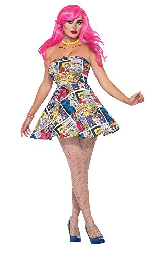 Forum Novelties 76718 Pop Art vestido (UK 10 – 12)
