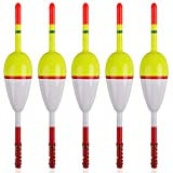 SILANON Wood Slip Bobbers Fishing Floats and Bobbers Spring Oval Stick Slip Floats for Crappie Catfish Trout Panfish Walleyes Fishing 5/10pcs