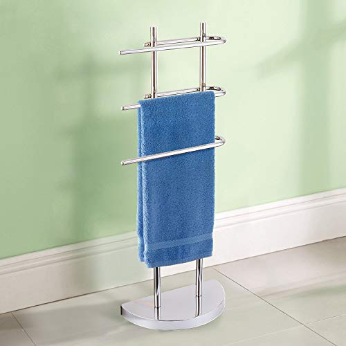 Taylor & Brown® Chrome Floor Standing Towel Stand with 3 U-Shap