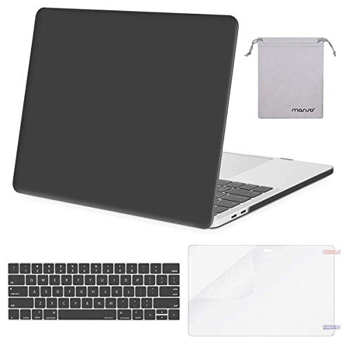 MOSISO MacBook Pro 13 inch Case 2019 2018 2017 2016 Release A2159 A1989 A1706 A1708, Plastic Hard Shell &Keyboard Cover &Screen Protector &Storage Bag Compatible with MacBook Pro 13, Space Gray