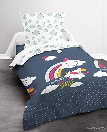 TODAY Parure Housse de Couette Enfant, Coton, Multicolore, 140X200 CM