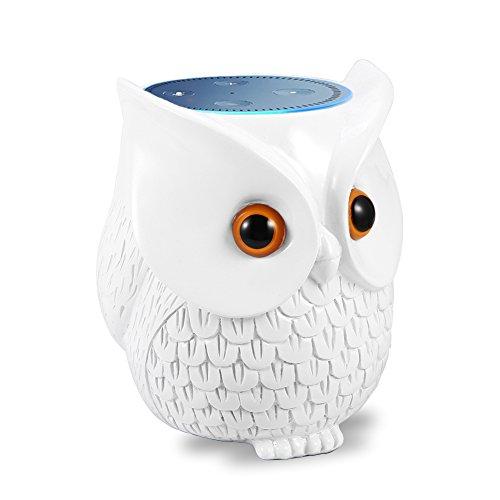 Estatua de bú/ho artesanal estació/n de vigilancia Echo Dot para Amazon