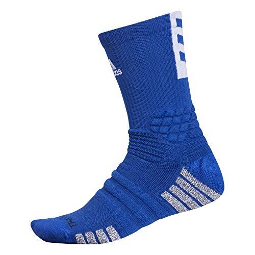 adidas Calcetines de baloncesto unisex Creator 365 (1 par), Unisex, Crew Sock-Team, 977641, Colegiata Real/Blanco, Medium