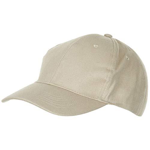 Baseball Cap, flach, Stofflasche, Messingverschluss, khaki, brushed