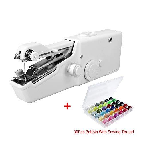 HABIT-The Even Tinier Mini Portable Handheld Sewing Machine (White, Sewing Machine Kit...