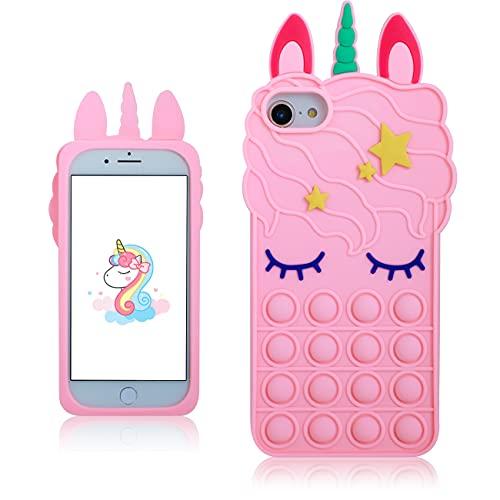 MulafnxalBubble Unicorn Classic Silicone Case for iPhone 6/6S/7/8/SE...