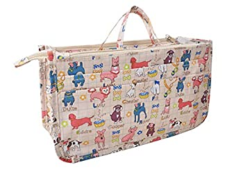 Vercord Patterned Purse Handbag Tote Pocketbook Bag Organizer Insert with Zipper Handle for Women Large Dogs