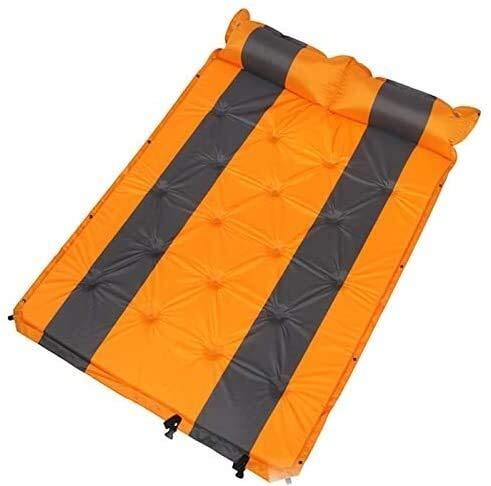 Sac de couchage double personne 192 X132 cm gonflé avec coussin d'air, lit d'air matelas Tente double 192 X132 cm gonflé humain avec coussin d'air, des tentes de lit d'air, des nattes de couchage Coul