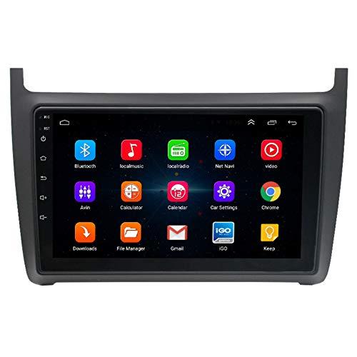 Amimilili Autoradio Radio De Coche para Volkswagen Polo 2008-2016 Autoradio GPS Pantalla Táctil Bluetooth Video Cámara de Reversa Bluetooth Manos Libres Control del Volante,4 Cores WiFi:2+32g