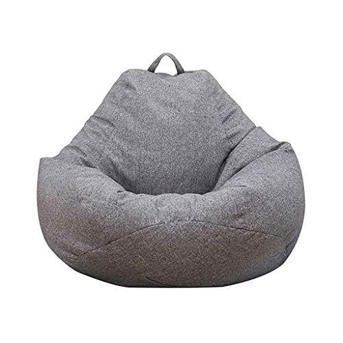 WHHK Sofás Laces Grandes sillas de Cubierta sin Relleno 100x120cm Bolso de Frijol sofás sofá Tatami Muebles de Sala de Estar (Color : Gray)