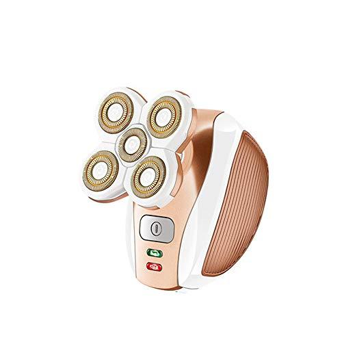 Elektrische epilator Vrouw scheerapparaat USB Charging Double Ring Veneer Scheren met 5 snijkoppen en batterij-indicator gebruikt voor Mannen en Vrouwen Scheren, Reiniging, ontharing